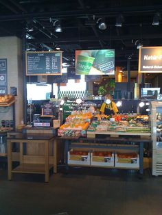 Picture taken of Marche food counters.