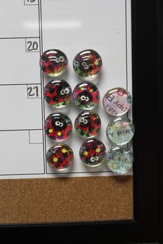 Calendar Gem stones tutorial from Dandelions and Dragonflies