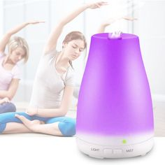 Container 120 ml, electric connector, 7 color LED lamp, timer, automatic shut off. Mist Diffuser, Aroma Diffuser, Essential Oil Diffuser, Essential Oils, Cool Mist Humidifier, Air Humidifier, St Pierre And Miquelon, Aromatherapy Oils, Home Fragrances