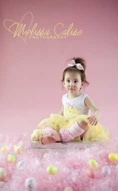 Melissa Calise Photography (Easter Girl Toddler Eggs Grass Photo Shoot Ideas)