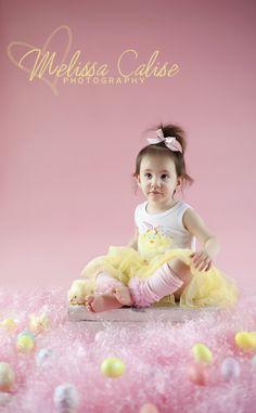 Melissa Calise Photography (Easter Girl Toddler Eggs Grass Photo Shoot Ideas)