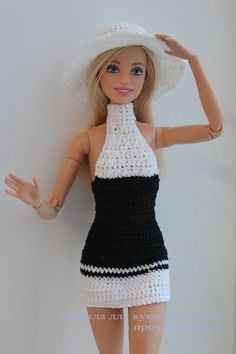 Best 10 Barbie Basic Blue Crochet Dress – made the same as the green dress only with an opening in the front Crochet Doll Dress, Crochet Barbie Clothes, Doll Clothes Barbie, Barbie Dress, Barbie Knitting Patterns, Barbie Patterns, Doll Clothes Patterns, Clothing Patterns, Barbie Et Ken