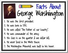 21 Fun Presidents Day Activities and Crafts : Facts about Abraham Lincoln and Facts about George Washington Kindergarten Social Studies, Social Studies Activities, Teaching Social Studies, Student Teaching, Classroom Activities, Teaching History, Kindergarten Activities, Teaching Ideas, Classroom Ideas