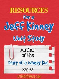 Jeff Kinney Homeschool Unit Study - Diary of a Wimpy Kid author Daily 5, Wimpy Kid Series, Author Studies, Unit Studies, Wimpy Kid Books, Jeff Kinney, Best Children Books, Homeschool Curriculum, Homeschooling
