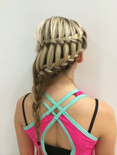 Waterfall into a French braid