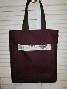 Maroon reversible Tote by VirginiaBlueCouture on Etsy, $35.00