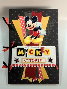 """Álbum de fotos e Porta Canetas """"Mickey"""""""