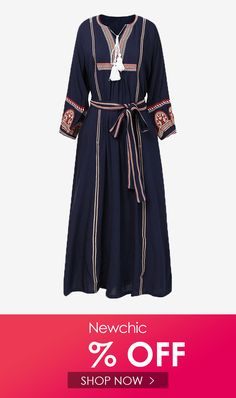 I found this amazing Ethnic Embroidery V-neck Tassel Belt Long Sleeve Pleated Dress with US$32.99,and 14 days return or refund guarantee protect to us. --Newchic #Womensdresses #womendresses #womenapparel #womensclothing #womensclothes #fashion #onlineshop #onlineshopping #bigdiscount #shopnow #DiscountSale #discountprices #discountstore #discountclothing #fashionista #fashionable #fashionstyle #fashionpost #fashionlover #fashiondesign #fashionkids #fashiondaily #fashionstylist #fashiongirl