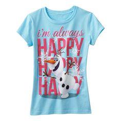 Disney's Frozen Olaf ''I'm Always Happy Happy Happy'' Tee - Girls 7-16 #Kohls