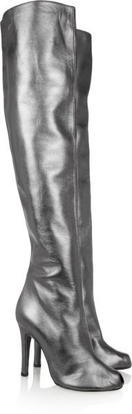 VaVa Voom Vionnet Metallic Leather Over-the-knee Boots