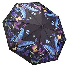 Galleria Moonlight Butterflies Folding Umbrella GALLERIA ENTERPRISES, INC. http://www.amazon.com