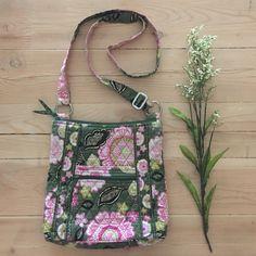 | Vera Bradley Crossbody Purse Fun and bright color crossbody bag.  In excellent condition. Vera Bradley Bags Crossbody Bags