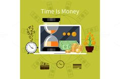Time is Money Concept by robuart on Creative Market