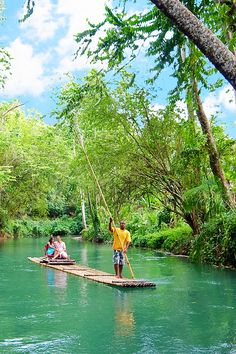 Montego Bay, Jamaica | Embark on a romantic, raft-riding shore excursion through the winding rivers of this Caribbean paradise.