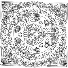 Skull Coloring Pages for Adults | Yucca Flats, N.M.: Wenchkin's Coloring Pages - Skull Appreciation Day