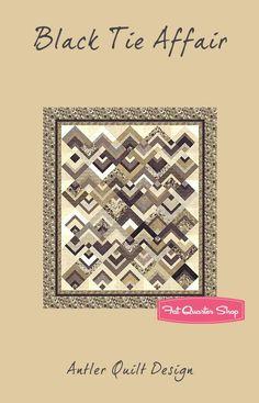 Black Tie Affair Quilt Pattern<BR>Antler Quilt Design