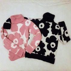 Marimekko, Diy Crochet, Crochet Projects, Knitwear, Knitting Patterns, Sewing, Fabric, Sweaters, Crafts