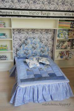 Pikkuprinsessan nukkekoti Willa Helmiina/Dollhouse to my little Princess. How to make romantic dollhouse bed.