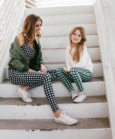 Loving @wetheclassy and her sweet mini me rocking our Gingham High Waisted Stride Leggings! Our 2017 Kids Launch is cute, cozy and sporty! Your kiddos will be the cutest, most stylish kids on the playground. To see the whole collection, head to albionfit.com | @albionfit #kids #kidsclothes #minime #mini #twinning #mommyandme #matching #gingham
