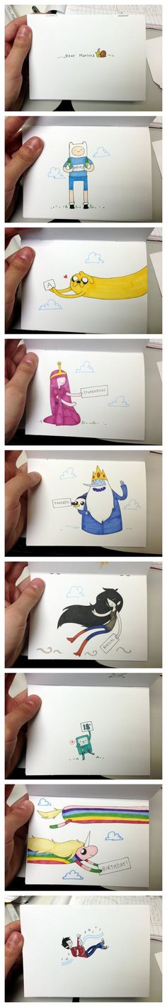 Thought I'd share this with you all 'cause I really liked it~ I made a birthday card for my friend's 18th birthday, and since she's an Adventure Time fan, I whipped up this little guy for her. It w...