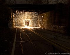 Long exposure Steel wool lit on fire spun on a leash while spinning in a circle Steel Wool Photography, Circle House, Camera Photography, Image Photography, Slow Shutter Speed, Long Exposure, Photo Tips, Storms, Cool Photos