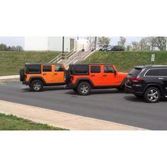 Jeep Wrangler comparison - Crush vs Dozer (Crush is the darker, more reddish color)