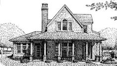Elevation of Country   Craftsman   Farmhouse  House Plan 95650