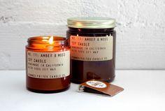 * PF Candle - amber & moss