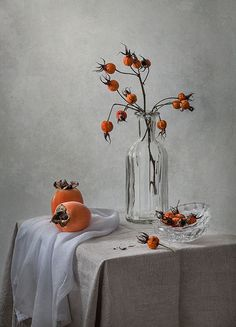 Rosehips and Persimmons