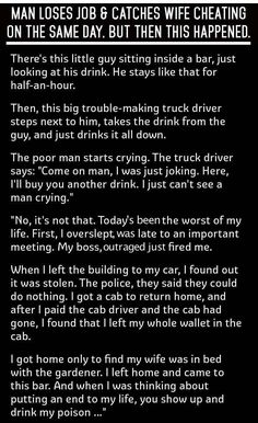 Man Loses Job And Catches Wife Cheating On The Same Day Then This Happens... funny jokes story lol funny quote funny quotes funny sayings joke hilarious humor stories marriage humor funny jokes