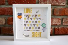 LOVE at first SIGHT Frame / Baby Frame / Birth Gift / New Baby Gift / Baby Scan Frame / Baby Scan / New Born Gift Baby Scan Frame, Birth Gift, Love At First Sight, New Baby Gifts, New Baby Products, Frames, Handmade Gifts, Etsy, Vintage