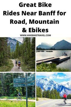 Great bike rides near Banff for road, mountain & ebikes