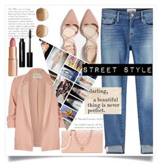 """Street Style!"" by ashaleethornt ❤ liked on Polyvore featuring Frame, River Island, Charlotte Tilbury, Bobbi Brown Cosmetics, Chanel and Chloé"