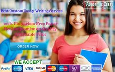 Looking for the best way to get Custom academic essay writing help? Problem solved! Try our custom essay writing service, dissertation writing service in USA. Order now! ##customessaywritingservice #AcademicEssayWriting #CustomEssayWritingService