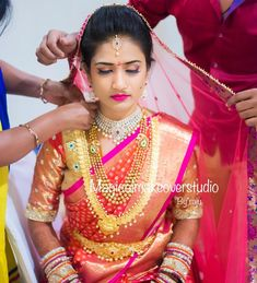 💫 Most trusted makeup artistry and we love how Raju beautifully turns his brides wedding ready 😍 To book… Wedding Looks, Bridal Looks, Bridal Style, Indian Bridal Outfits, Indian Bridal Wear, Blue Bridesmaid Dresses, Bridal Dresses, South Indian Bride, Saree Wedding