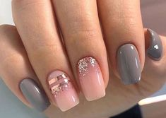 More than 100 fashionable nail designs, there is always something you like. - Page 5 of 135 - Inspiration Diary Gelish Nail Colours, Gelish Nails, Acrylic Nail Designs, Nail Art Designs, Acrylic Nails, Trendy Nails, Cute Nails, Hair And Nails, My Nails