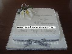 Cake A005 :: Anniversary Cakes :: Cakes for Celebrations :: Cake Library - Cake for all Occasions