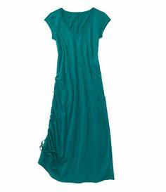 Drench Dress - Dresses - Dresses, Skirts & Skorts - Title Nine  adj drawstring on one side, pockets, comfy fit