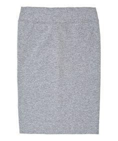 Heather Gray Pencil Skirt - Girls #zulily #zulilyfinds