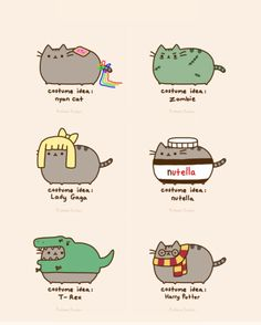 Cat costume ideas from Pusheen! Gato Pusheen, Pusheen Love, Chat Kawaii, Kawaii Cat, Pusheen Costume, Nyan Cat Costume, Cat Costumes, Kawaii Drawings, Cute Drawings