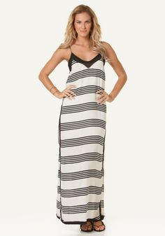 Vix Swimwear | Stripes Nina Dress | Beach Café UK