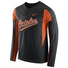 Baltimore Orioles Nike Long Sleeve Windbreaker - Black