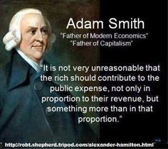 Adam Smith on contributions of the rich