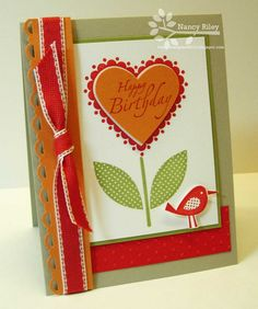 Another Cute Card Idea Using the Sweetheart Stamp Set without the Sweet Treat Cup. SU.