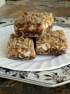 White Chocolate Caramel Oatmeal Bars.  I've tried these and they are so very tasty.  And bad.  But good.