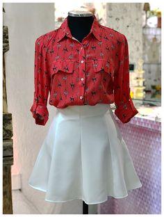 Daquele looks que amamos: saia cintura alta e camisa com estampa fofa! 😍🐶❤️ Korea Fashion, Teen Fashion, Fashion Outfits, Womens Fashion, Wedding Sneakers, Ulzzang Fashion, Future Fashion, Looks Vintage, Korean Outfits