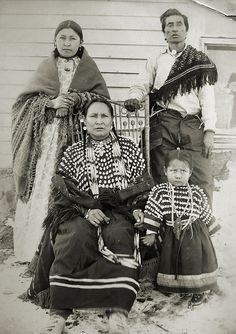 Assiniboine Indians at Fort Belknap, Montana, 1899