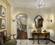 Entry to a Chicago maisonette apartment by Robert A.M. Stern Architects, LLP