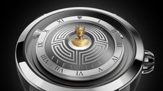 Upmarket Swiss watchmaker Christophe Claret's Aventicum watch not only has a Roman theme, but also a tiny engraved golden bust of Emperor Marcus Aurelius that seems to float over the center of the dial.