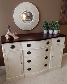 Travis Court buffet by Drexel re-done with black lacquered top and ...